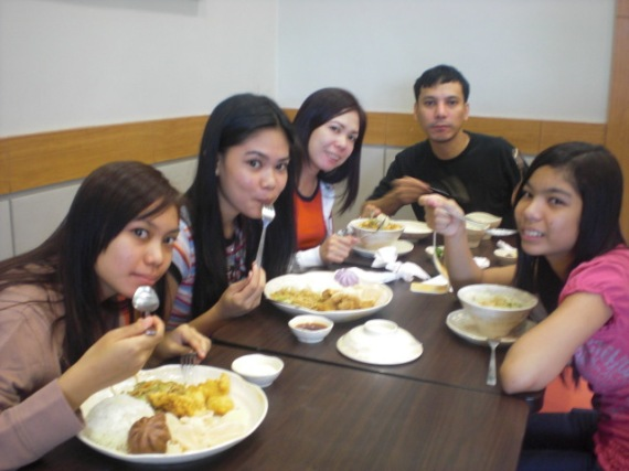 All of us having our lunch at Chowking Fast Food