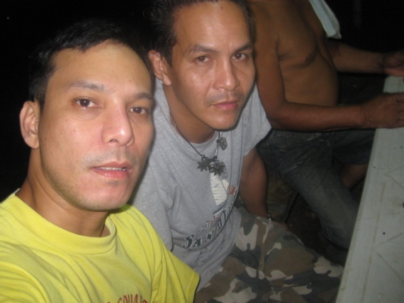 Drinking on my first night in the province of Batangas